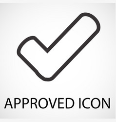 Simple approved line art icon vector