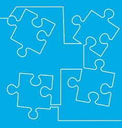 simple puzzle four piece business presentation vector image