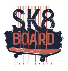 skateboard 010 vector image