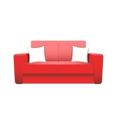 sofa isolated on white background vector image
