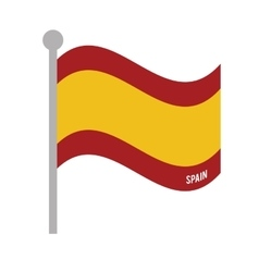 Spain patriotic flag isolated icon vector