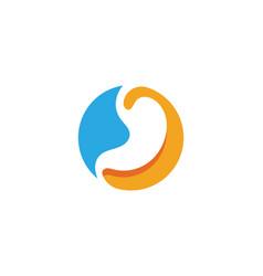 Stomach care icon designs vector