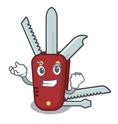Successful penknife in a character shape vector