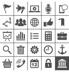 Universal Icon Set 25 icons for website and app vector image