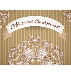 Wedding invitation lace background with a place vector