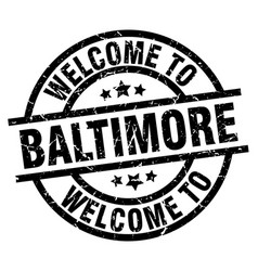 Welcome to baltimore black stamp vector