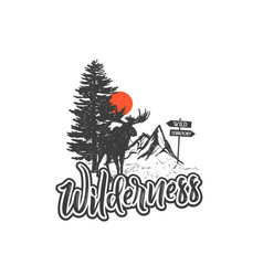 wilderness vector image