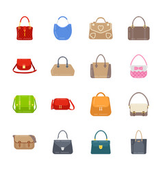 Women handbag icons pack vector