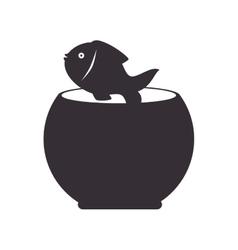Fishbowl fish mascot vector