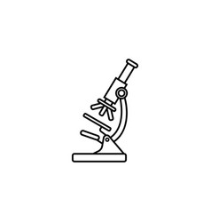 microscope line icon medicine and research vector image vector image