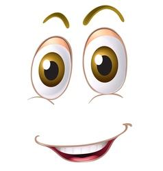 a face vector image vector image