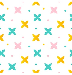 Colorful abstract floral seamless pattern vector image vector image