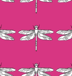 Dragonfly Patterned Background vector image vector image