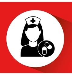 Medicine capsule pill hosptial building icon vector