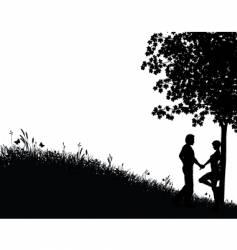 nature scene vector image
