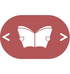 Reading book icon vector
