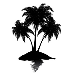 Small island silhouette vector image
