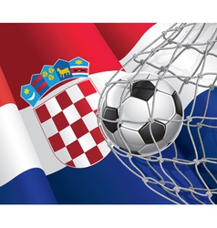 Soccer Goal and Croatia Flag vector image vector image