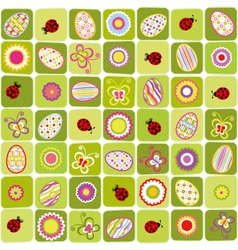 abstract easter holiday seamless vector image