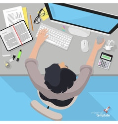 Accountant office desktop vector image