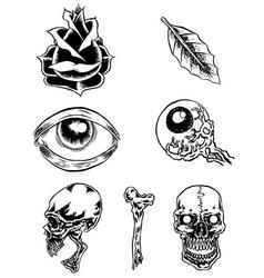 Classic tattoos vector