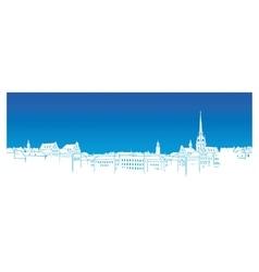 Shwedish town silhouette vector