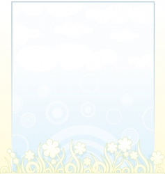 spring backdrop vector image