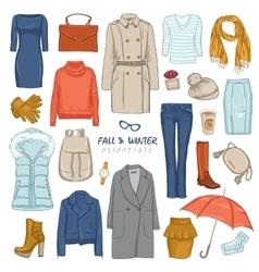 Fashionable Clothing Icon Set vector image vector image
