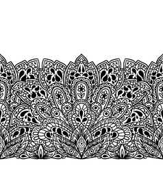 Indian ethnic seamless border with hand drawn vector image vector image