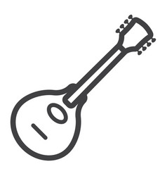 Mandolin line icon music and instrument vector