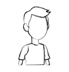 portrait young boy male student people vector image