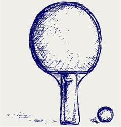 Racket vector image