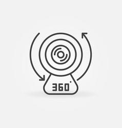 360-degree camera device linear concept vector image