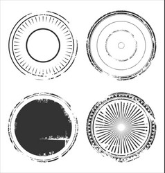 abstract empty grunge rubber stamp collection 1 vector image