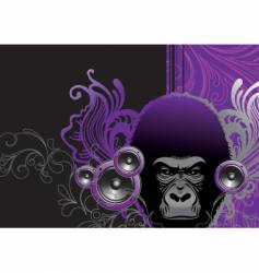 audio gorilla vector image