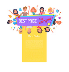 Best price sales for everyone promotional poster vector