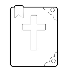 Bible icon outline style vector