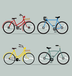 bicycle set collection for design vector image