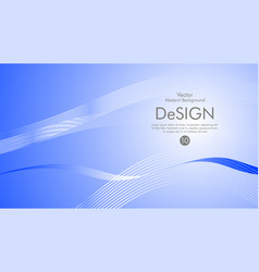 blue background white line vector image