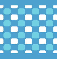 blue white checkered pattern vector image