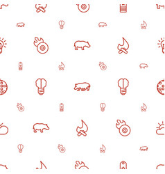 Bright icons pattern seamless white background vector