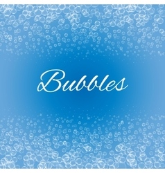 Bubbles on blue background vector