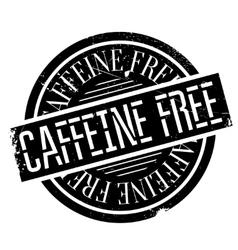 Caffeine free stamp vector
