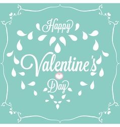 Celebration Happy Valentines Day in blue vector