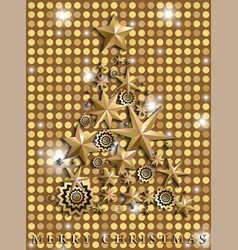 christmas and new year abstract with christmas vector image