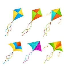Colorful Kite Set vector image