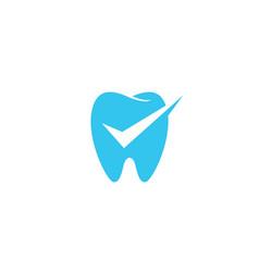 dental check logo icon vector image