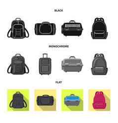 Design of suitcase and baggage symbol vector