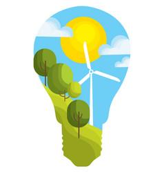 eco energy green energy vector image