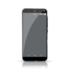 empty smartphone template highly detailed picture vector image